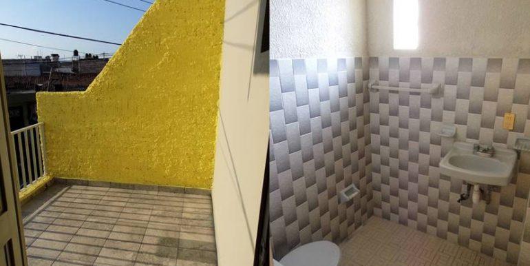 baño y terraza